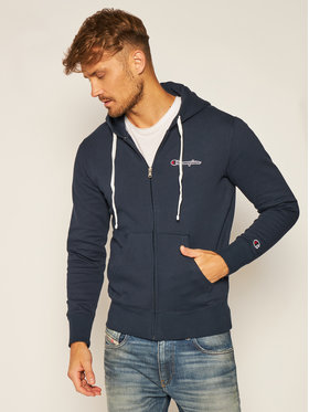 Champion Champion Mikina Zip-Up Script Logo Fleece 214719 Tmavomodrá Comfort Fit