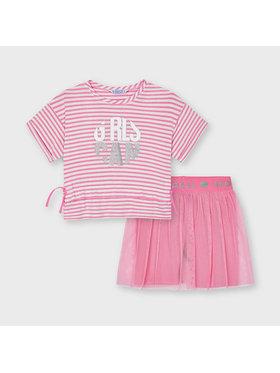 Mayoral Mayoral Komplektas: marškinėliai ir sijonas 3739 Rožinė Regular Fit