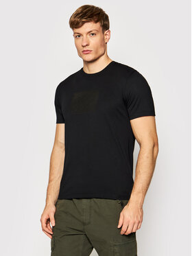 C.P. Company C.P. Company T-Shirt Label Logo 11CMTS246A 005100W Czarny Regular Fit