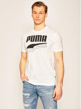 Puma Puma T-Shirt Rebel Bolt Tee 581356 Bílá Regular Fit