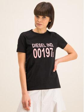 Diesel Diesel T-Shirt Sily 00SC3F 0CATJ Czarny Regular Fit
