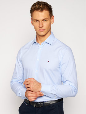 Tommy Hilfiger Tailored Tommy Hilfiger Tailored Košeľa Poplin Design TT0TT08270 Modrá Slim Fit