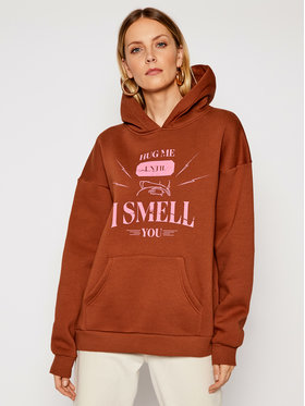 Local Heroes Local Heroes Bluza Hug Me SS21S0042 Brązowy Oversize