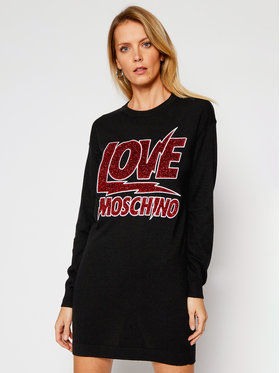 LOVE MOSCHINO LOVE MOSCHINO Плетена рокля WS22R11X 0683 Черен Regular Fit
