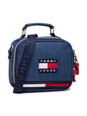 Tommy Jeans Tommy Jeans Torbica Tjw Heiritage Denim Crossover AW0AW10237 Tamnoplava