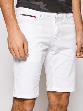 Tommy Jeans Tommy Jeans Džínsové šortky Scanton DM0DM11595 Biela Slim Fit