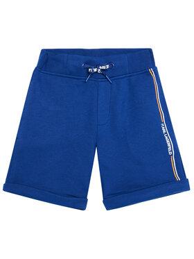KARL LAGERFELD KARL LAGERFELD Αθλητικό σορτς Z24108 S Μπλε Regular Fit