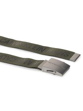Calvin Klein Jeans Calvin Klein Jeans Pánský pásek Ckj Logo Tape Plaque Belt 40Mm K50K505769 Zelená