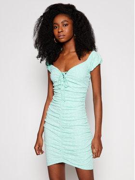 Guess Guess Sukienka letnia W1GK0F KALQ0 Zielony Slim Fit