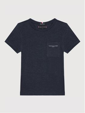 Tommy Hilfiger Tommy Hilfiger T-Shirt Essential Slub Pocket KB0KB06685 D Granatowy Regular Fit
