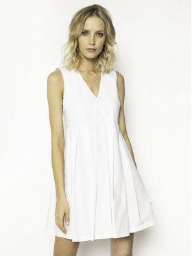 Manila Grace Manila Grace Sukienka codzienna A563CU Biały Regular Fit