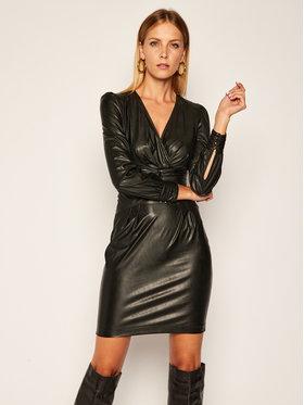 Pinko Pinko Robe en simili cuir Enrico Al 20-21 BLK01 1G150D Y6BF Noir Slim Fit