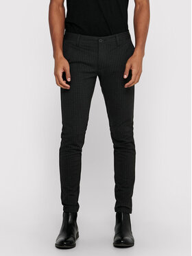 Only & Sons ONLY & SONS Текстилни панталони Mark 22013727 Сив Slim Fit
