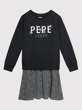 Pepe Jeans Pepe Jeans Rochie de zi Melania PG951513 Negru Regular Fit