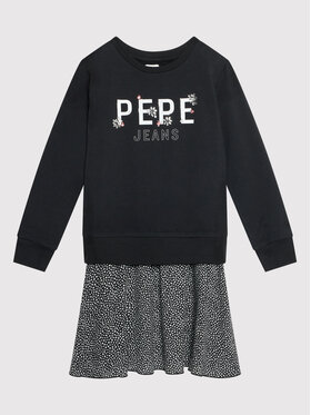 Pepe Jeans Pepe Jeans Sukienka codzienna Melania PG951513 Czarny Regular Fit