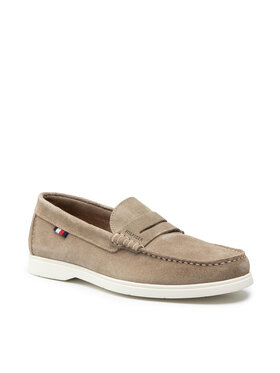 Tommy Hilfiger Tommy Hilfiger Мокасини Sustainable Loafer Shoe FM0FM03603RB7 Зелен