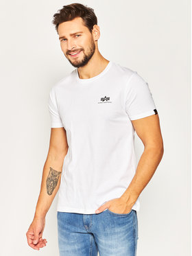 Alpha Industries Alpha Industries T-Shirt Basic 188505 Biały Regular Fit
