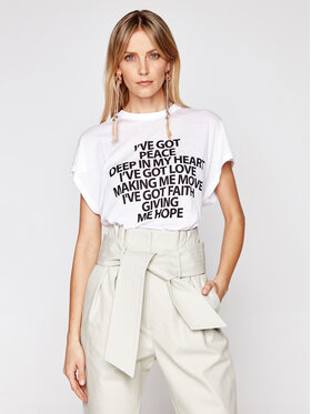 IRO IRO Marškinėliai Ivegot A0828 Balta Regular Fit