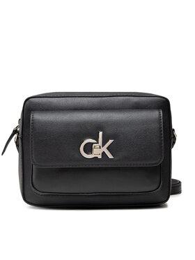 Calvin Klein Calvin Klein Дамска чанта Re-Lock Camera Bag W/Flap Pkt Lg K60K608414 Черен