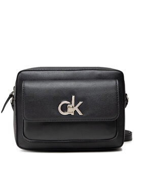 Calvin Klein Calvin Klein Kabelka Re-Lock Camera Bag W/Flap Pkt Lg K60K608414 Černá