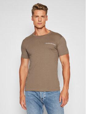 Calvin Klein Jeans Calvin Klein Jeans T-Shirt J30J315245 Hnědá Regular Fit