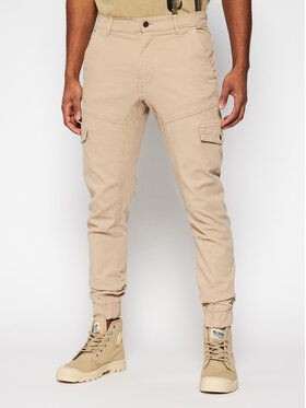 Guess Guess Joggers kalhoty New Kombat M1RB17 WDP31 Béžová Slim Fit