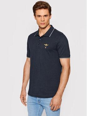 Aeronautica Militare Aeronautica Militare Тениска с яка и копчета 212PO1308P82 Тъмносин Regular Fit