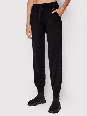 TwinSet TwinSet Spodnie dresowe 212TP3201 Czarny Regular Fit