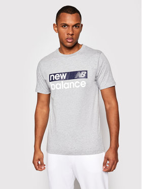 New Balance New Balance T-Shirt Classic Core Graphic MT03917 Szary Athletic Fit