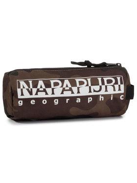 Napapijri Napapijri Κασετίνα Happy Pc Print N0YIXV Καφέ