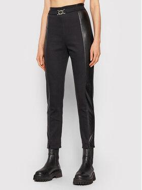 Rinascimento Rinascimento Текстилни панталони CFC0018026002 Черен Regular Fit
