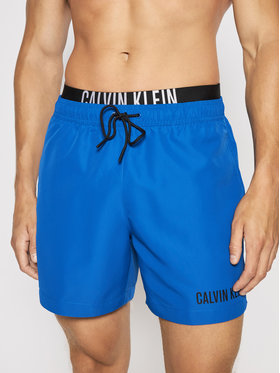 Calvin Klein Swimwear Calvin Klein Swimwear Pantaloni scurți pentru înot Double Wb KM0KM00552 Albastru Regular Fit
