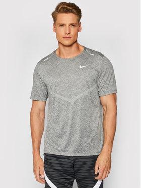 Nike Nike Funkčné tričko Dri-Fit Rise CZ9184 Sivá Standard Fit