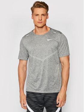 Nike Nike Тениска от техническо трико Dri-Fit Rise CZ9184 Сив Standard Fit