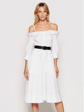 KARL LAGERFELD KARL LAGERFELD Košeľové šaty Cold Shoulder 211W1303 Biela Regular Fit