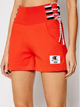 Champion Champion Sportiniai šortai Lace Up Side Sweat 112896 Oranžinė Custom Fit