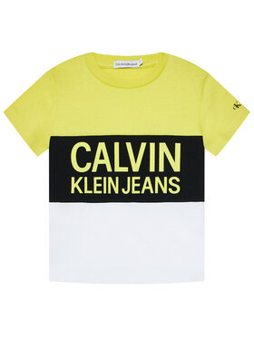 Calvin Klein Jeans Calvin Klein Jeans T-shirt Colour Block Logo Fitted IB0IB00887 Jaune Regular Fit