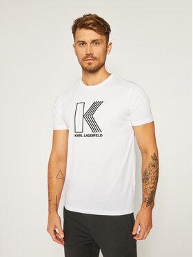 KARL LAGERFELD KARL LAGERFELD T-Shirt Crewneck 755032 502224 Bílá Regular Fit