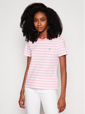 Tommy Jeans Tommy Jeans T-Shirt Classics Stripe Tee DW0DW10151 Rosa Regular Fit