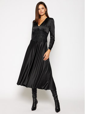 Nissa Nissa Sukienka wieczorowa RS11785 Czarny Regular Fit