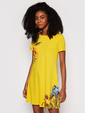 Desigual Desigual Φόρεμα καθημερινό Vegas 21SWVKAG Κίτρινο regular_fit