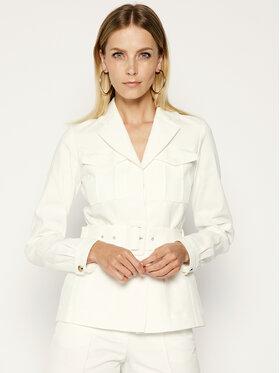 Victoria Victoria Beckham Victoria Victoria Beckham Demisezoninė striukė Double Cloth 2220WJK001115A Balta Slim Fit