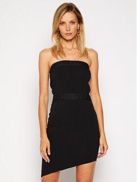 Just Cavalli Just Cavalli Koktejlové šaty S04CT1107 Černá Slim Fit