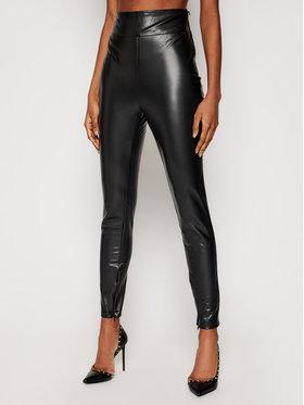 Guess Guess Nohavice z imitácie kože Priscilla W1RB25 WBG60 Čierna Slim Fit