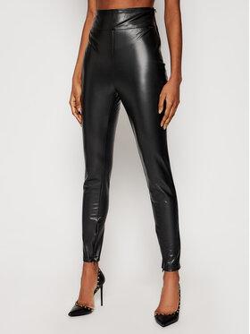 Guess Guess Панталони от имитация на кожа Priscilla W1RB25 WBG60 Черен Slim Fit