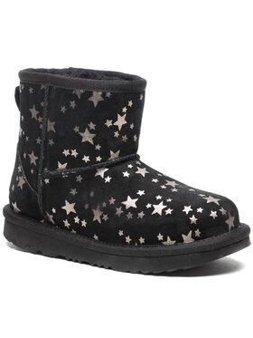 Ugg Ugg Обувки Kids' Classic Mini II Stars 1115852K Черен