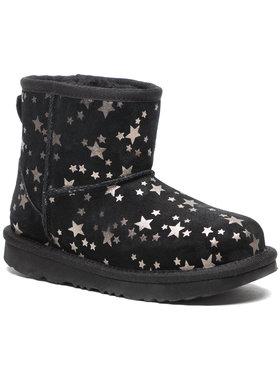 Ugg Ugg Pantofi Kids' Classic Mini II Stars 1115852K Negru