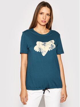 Fox Racing Fox Racing T-Shirt Palms 27175 Niebieski Regular Fit