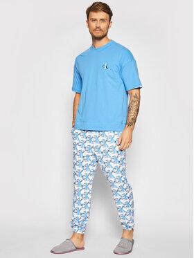 Calvin Klein Underwear Calvin Klein Underwear Piżama 000NM1787E Niebieski