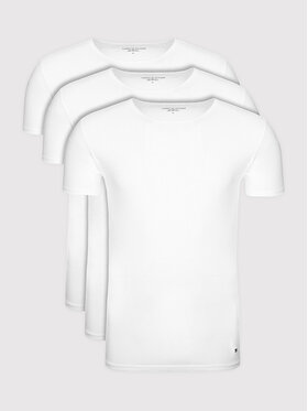 Tommy Hilfiger Tommy Hilfiger Set 3 tricouri Essential 2S87905187 Alb Regular Fit